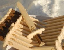 Деревянный меч. 4 элемента.